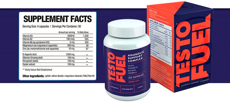 TestoFuel Supplement Facts