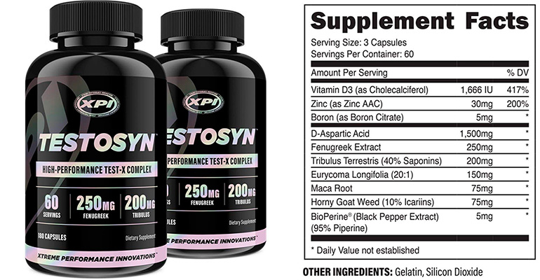 Testosyn Supplement Facts