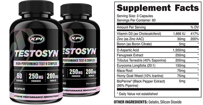 Testosyn Supplement Facts