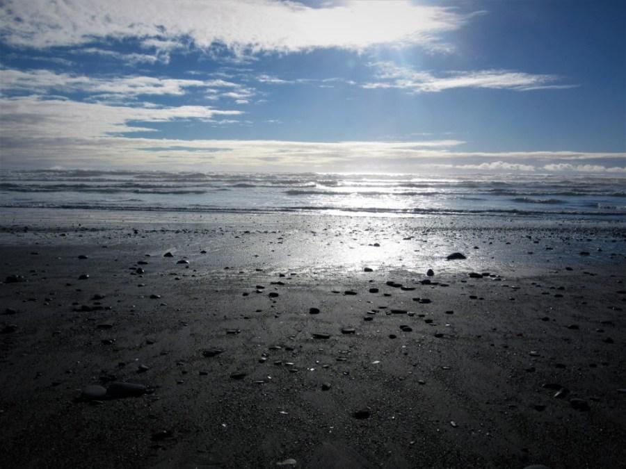 Sole pomeridiano sul Mare di Tasman