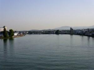 Il Reno visto dal Dreiländerbrücke