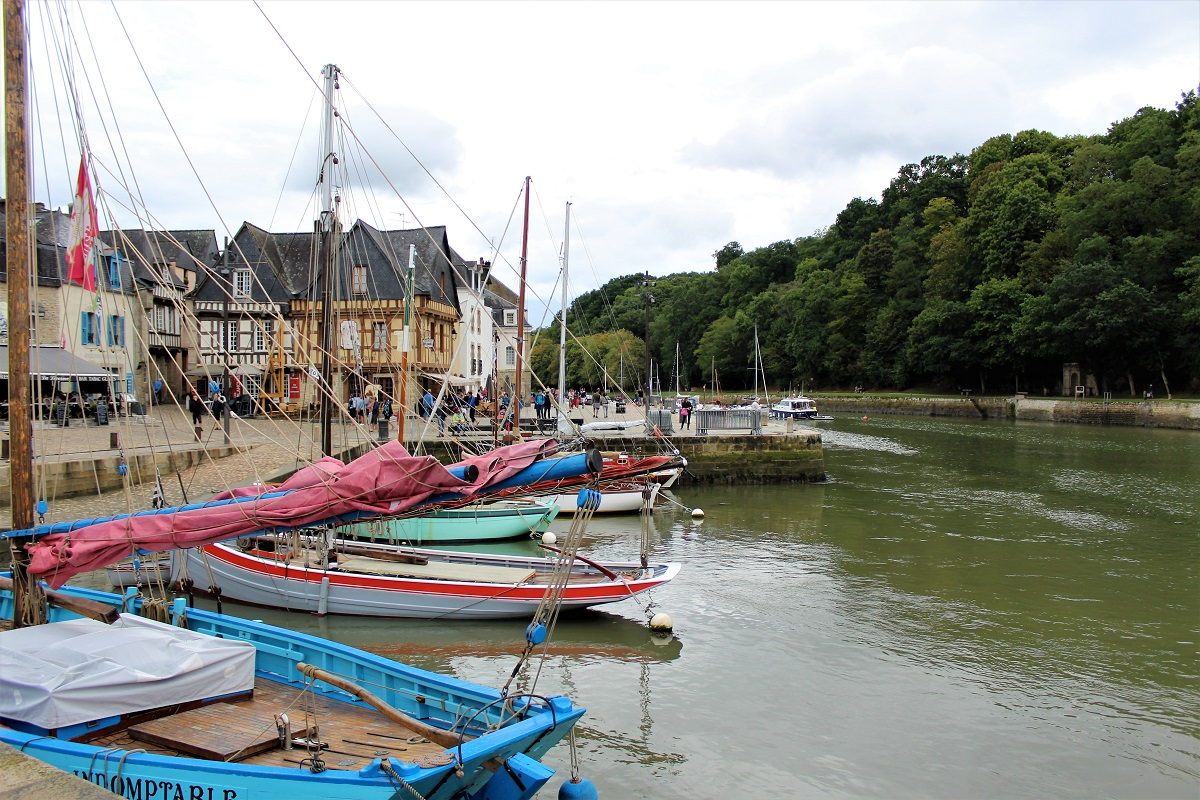 Auray Barche ormeggiate a port Saint Goustan