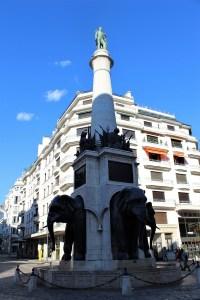Chambery la fontana degli elefanti