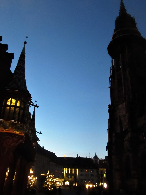 Piazza Cattedrale Friburgo Inverno