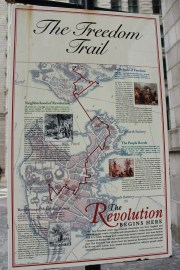 Mappa del Boston Freedom Trail