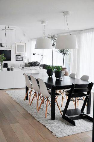 A Scandinavian inspired dining set.