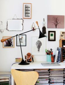 Hang your office supplies, like a white board.