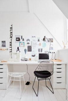 A Scandinavian fashioned office.
