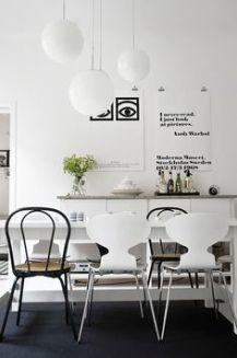 An inspiring Scandinavian dining room.