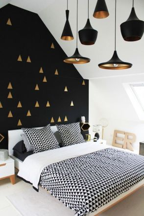 Spice up your bedroom with an unexpected pop of color.