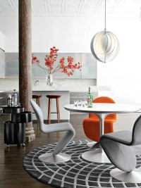 Enhance your dining room set with colored chairs.