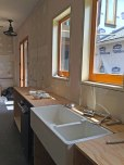 Fireclay-sink-installed