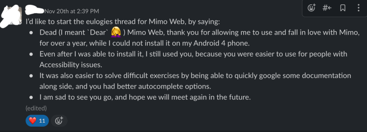 The start of our thread for removing Mimo Web, rest in peace!