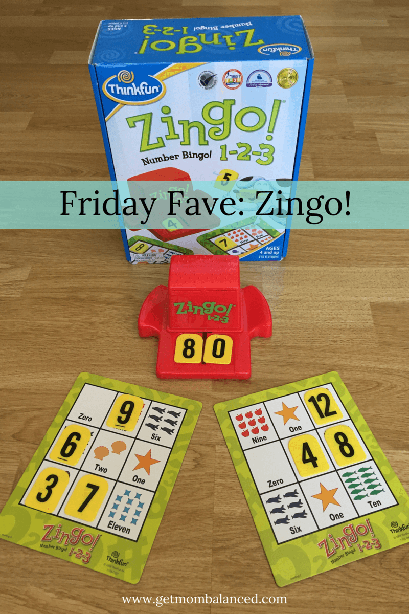 Zingo is bingo game for kids. Simple but fun- kids and parents will love it (Aff link)