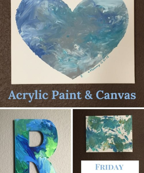 Acrylic Paint and Canvas can easily be used by young kids to create beautiful art you'll want to display, and give as gifts.