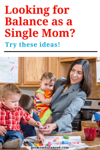 Balance as a single mom is hard; check out these tips, ideas, and support for single, working moms.