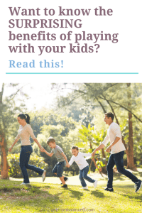 Playing with your kids is a great way to build your relationships, feel better overall, and create a better balance for you and your family. Playing isn't just for the kids- check out the benefits when parents get involved too.