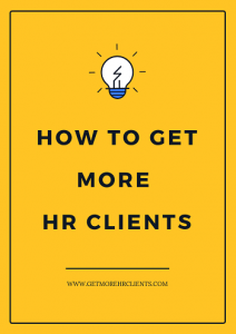 HOW TO GET MORE HR CLIENTS BOOK