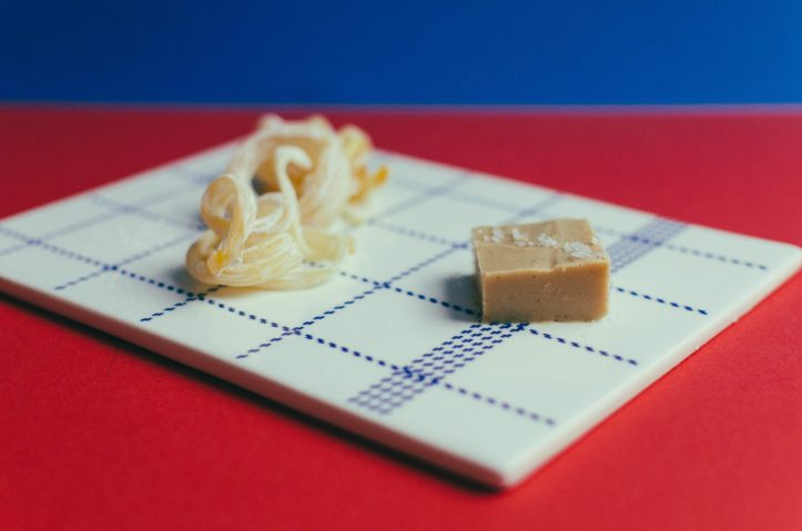 Cashew and Coconut Fudge, with Hand Spun Hard Candy - Munch
