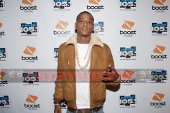 Remy Boy Monty arrives at Power 105.1's Powerhouse pre-party presented by Lenny The Barber, LTB Entertainment, and Boost Mobile