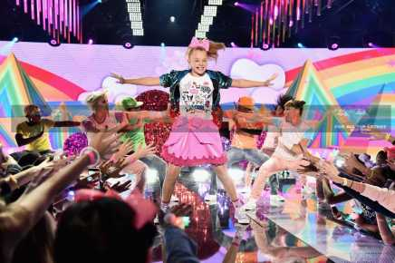 NEW YORK, NY - NOVEMBER 11: JoJo Siwa performs onstage during 2016 Nickelodeon HALO Awards at Basketball City - Pier 36 - South Street on November 11, 2016 in New York City. (Photo by Michael Loccisano/Getty Images) *** Local Caption *** JoJo Siwa