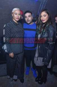 LONDON, ENGLAND - DECEMBER 08: Emeli Sandé, Naughty Boy and Nicole Scherzinger attend The Dean Collection X Bacardi Present No Commission: London on December 8, 2016 in London, England. (Photo by David M. Benett/Dave Benett/Getty Images for Getty Images) *** Local Caption *** Emeli Sandé; Naughty Boy; Nicole Scherzinger