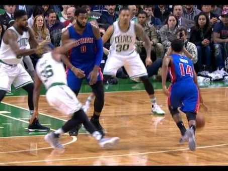 Ish Smith Crosses Up and Drops Marcus Smart | 01.30.17