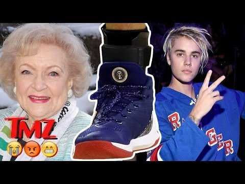 Justin Beiber Rolls Eyes at Selena/Weeknd , Obama Sneakers, and Betty White Turns 95   TMZ BUZZ