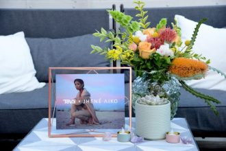 Teva celebrates the launch of the 2017 Teva x Jhené Aiko collection at NeueHouse in Los Angeles on May 1, 2017.