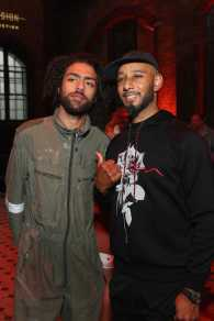BERLIN, GERMANY - JUNE 29: Noah Becker (L) and Swizz Beatz pose at Bacardi X The Dean Collection Present: No Commission Berlin on June 29, 2017 in Berlin, Germany. (Photo by Brian Dowling/Getty Images for Bacardi) *** Local Caption *** Noah Becker;Swizz Beatz