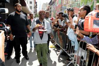 -New York, NY - 8/25/17- Yachty`s Pizzeria -PICTURED: Lil Yachty -PHOTO by: Startraksphoto.com -BDP_9254 Editorial - Rights Managed Image - Please contact www.startraksphoto.com for licensing fee Startraks Photo New York, NY For licensing please call 212-414-9464 or email sales@startraksphoto.com Image may not be published in any way that is or might be deemed defamatory, libelous, pornographic, or obscene. Please consult our sales department for any clarification or question you may have. Startraks Photo reserves the right to pursue unauthorized users of this image. If you violate our intellectual property you may be liable for actual damages, loss of income, and profits you derive from the use of this image, and where appropriate, the cost of collection and/or statutory damages.