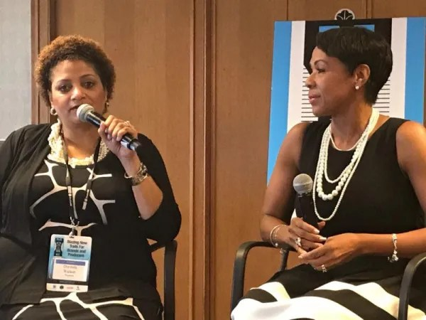 from left to right: Dorinda Walker (Prudential VP) with Author & Exponential Living coach, Sheri Riley
