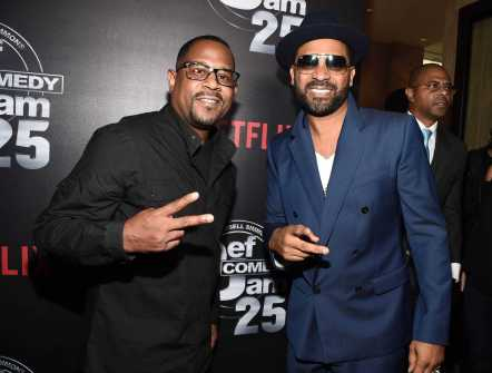 Martin Lawrence and Mike Epps arrives at Def Comedy Jam 25, A Netflix Original Comedy Event, in Beverly Hills on Sunday September 10th.