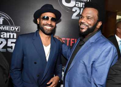 Mike Epps and Craig Robinson arrives at Def Comedy Jam 25, A Netflix Original Comedy Event, in Beverly Hills on Sunday September 10th.