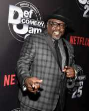 Cedric the Entertainer arrives at Def Comedy Jam 25, A Netflix Original Comedy Event, in Beverly Hills on Sunday September 10th.