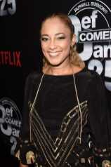Amanda Seales arrives at Def Comedy Jam 25, A Netflix Original Comedy Event, in Beverly Hills on Sunday September 10th.