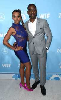 Mandatory Credit: Photo by Richard Shotwell/Variety/REX/Shutterstock (9064179cf) Ryan Michelle Bathe and Sterling K. Brown Variety and Women in Film Emmy Nominee Celebration, Arrivals, Los Angeles, USA - 15 Sep 2017