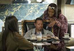 """EMPIRE: Pictured L-R: Guest star Demi Moore, Taraji P. Henson and Terrence Howard in the """"Full Circle"""" episode of Wednesday, Oct. 4 (8:00-9:00 PM ET/PT) on FOX. ©2017 Fox Broadcasting Co. CR: Chuck Hodes/FOX"""