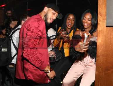 LOS ANGELES, CA - NOVEMBER 02: Sarunas Jackson and Ashley Blaine Featherson attend The MVP Experience after party hosted by The House of Remy Martin at The Highlight Room on November 2, 2017 in Los Angeles, California. (Photo by Jerritt Clark/Getty Images for Remy Martin)