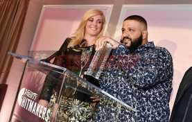 Mandatory Credit: Photo by Rob Latour/Variety/REX/Shutterstock (9228565bb) Alissa Pollack and DJ Khaled Variety Hitmakers Brunch, Inside, Los Angeles, USA - 18 Nov 2017