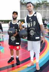 MIAMI BEACH, FL - DECEMBER 08: Tory Lanez (L) and Prince Michael attend The House Of Remy Martin Presents The MVP Experience In Miami at W South Beach on December 8, 2017 in Miami Beach, Florida. (Photo by Johnny Nunez/Getty Images for Remy Martin)