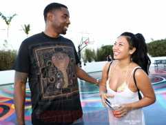 MIAMI BEACH, FL - DECEMBER 08: Roger Mason Jr. (L) and Sue Tsai attends The House Of Remy Martin Presents The MVP Experience In Miami at W South Beach on December 8, 2017 in Miami Beach, Florida. (Photo by Johnny Nunez/Getty Images for Remy Martin)