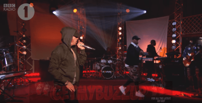 "Watch: Eminem Perform ""Love The Way You Lie"" ft. Skylar Grey Live on Radio 1"