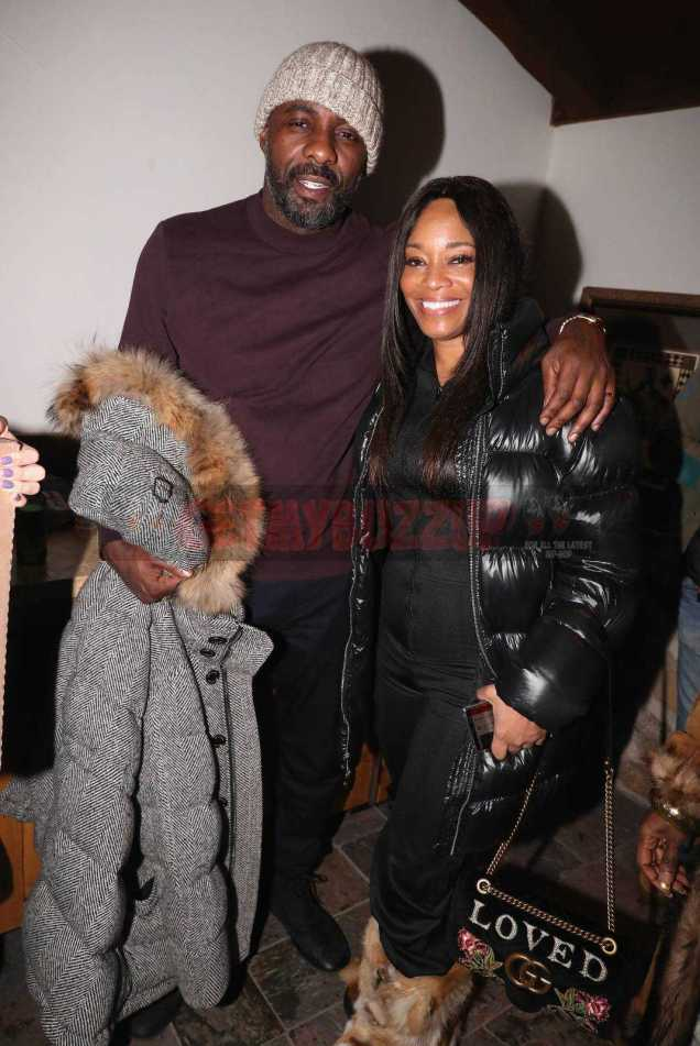 PARK CITY, UT - JANUARY 20: Idris Elba (L) and Connie Orlando attend as The House of Remy Martin celebrates the APEX Social Club at the WanderLuxxe House with Common and Friends on January 20, 2018 in Park City, Utah. (Photo by Johnny Nunez/Getty Images for Remy Martin)