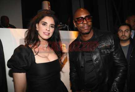 NEW YORK, NY - JANUARY 28: Comedians Sarah Silverman (L) and Dave Chappelle attend Universal Music Group's 2018 After Party to celebrate the Grammy Awards supported by The House Of Remy Martin at Spring Studios on January 28, 2018 in New York City. (Photo by Johnny Nunez/Getty Images for Remy Martin)