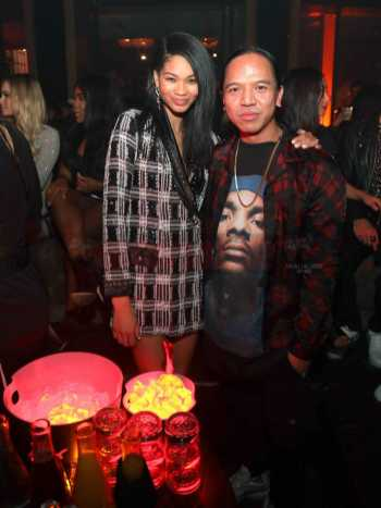 LOS ANGELES, CA - FEBRUARY 16: Model Chanel Iman and Revolve Founder Michael Mente attend MVP Weekend with Travis Scott at Avenue Los Angeles presented by Remy Martin on February 16, 2018 in Los Angeles, California. (Photo by Jerritt Clark/Getty Images for Remy Martin)