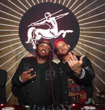 LOS ANGELES, CA - FEBRUARY 16: DJ's Steph Floss and Chase B spin MVP Weekend with Travis Scott at Avenue Los Angeles presented by Remy Martin on February 16, 2018 in Los Angeles, California. (Photo by Jerritt Clark/Getty Images for Remy Martin)