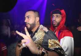 LOS ANGELES, CA - FEBRUARY 18: French Montana (L) and Zack Kharbouch attend the LIV On Sunday For MVP Weekend event At Avenue Los Angeles Hosted By French Montana and presented By Remy Martin on February 18, 2018 in Los Angeles, California. (Photo by Johnny Nunez/Getty Images for Remy Martin)