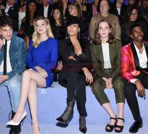 NEW YORK, NY - FEBRUARY 08: (L-R) Anwar Hadid, Nicola Peltz, La La Anthony, Maya Thurman-Hawke, and Christian Combs attend the Tom Ford Fall/Winter 2018 Women's Runway Show at the Park Avenue Armory on February 8, 2018 in New York City. (Photo by Dimitrios Kambouris/Getty Images for Tom Ford)