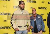 """AUSTIN, TX - MARCH 17: Dave East and T.I. attend the red carpet premiere of """"Rapture"""" during SXSW 2018 at Paramount Theatre on March 17, 2018 in Austin, Texas. (Photo by Daniel Boczarski/Getty Images for Netflix) *** Local Caption *** Dave East;T.I."""